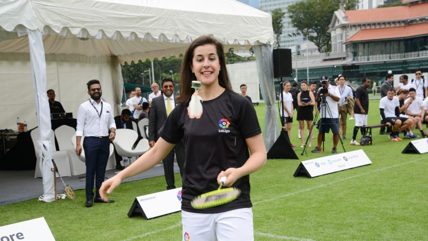 Carolina Marín, la campeona onubense, en Singapur con la LFP