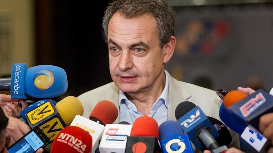 Rodríguez Zapatero concluye una reunión con líderes de la oposición venezolana