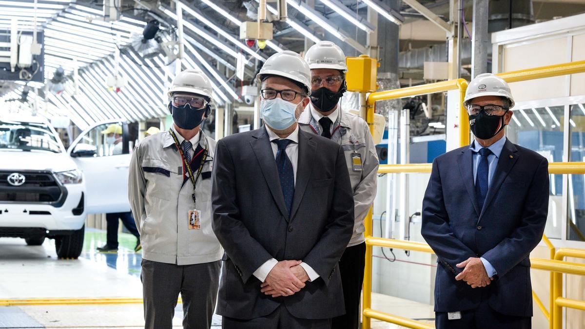El ministro de Desarrollo Productivo, Matías Kulfas, en una reciente visita a Toyota.