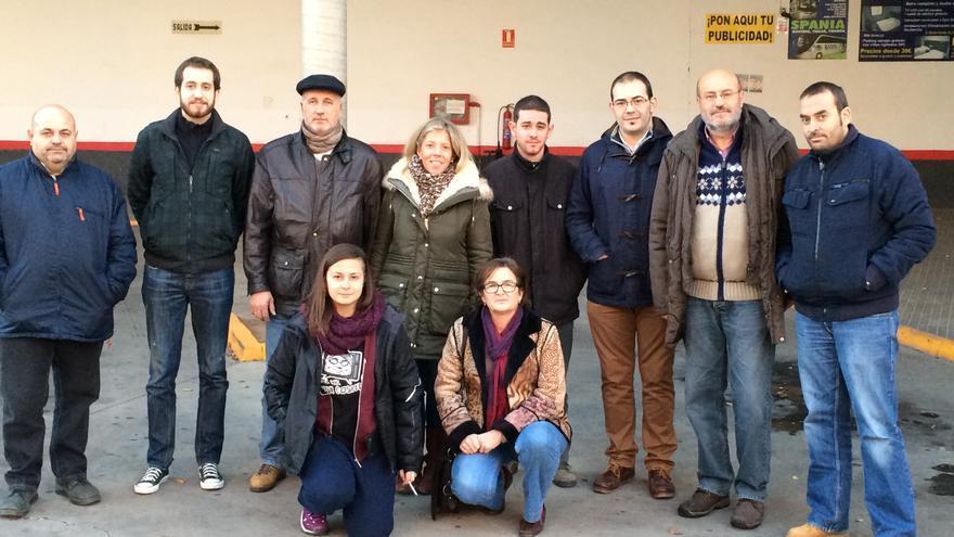 Participantes de la Plataforma por la Defensa del Transporte Público de la Comarca de Tomelloso