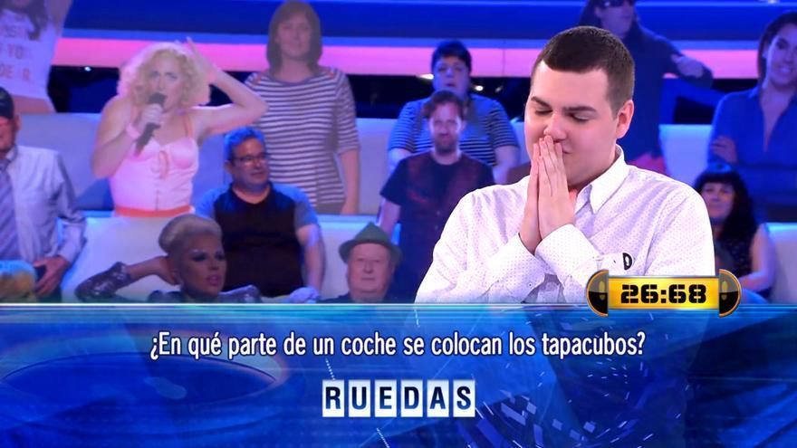 Alberto, muy nervioso en el concurso