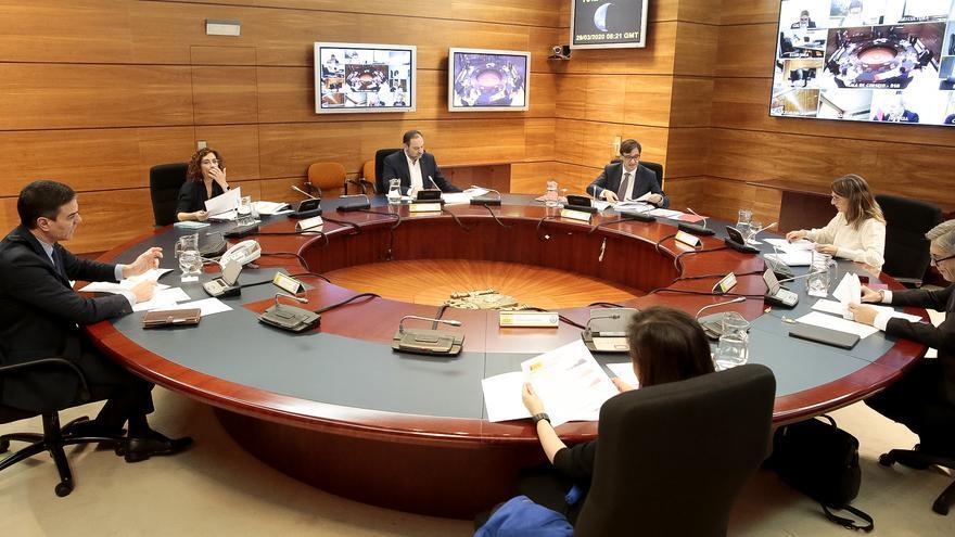 Reunión telemática del Consejo de Ministros extraordinario.