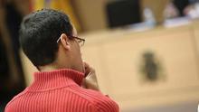 El asesino de Saray González en la sesión del juicio de este martes. Foto: EFE