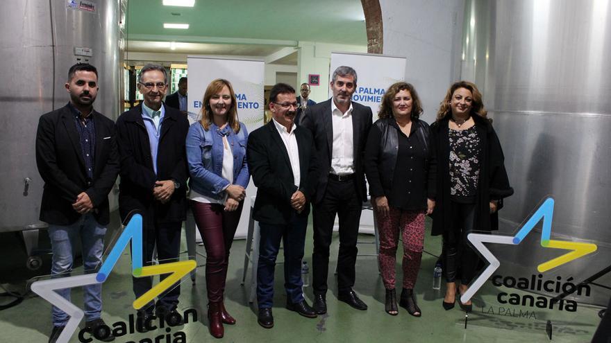 Acto de CC celebrado este viernes en Fuencaliente.
