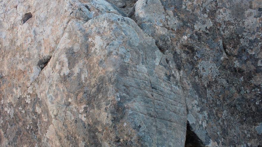 Yacimiento en la Caldera de Tirajana.