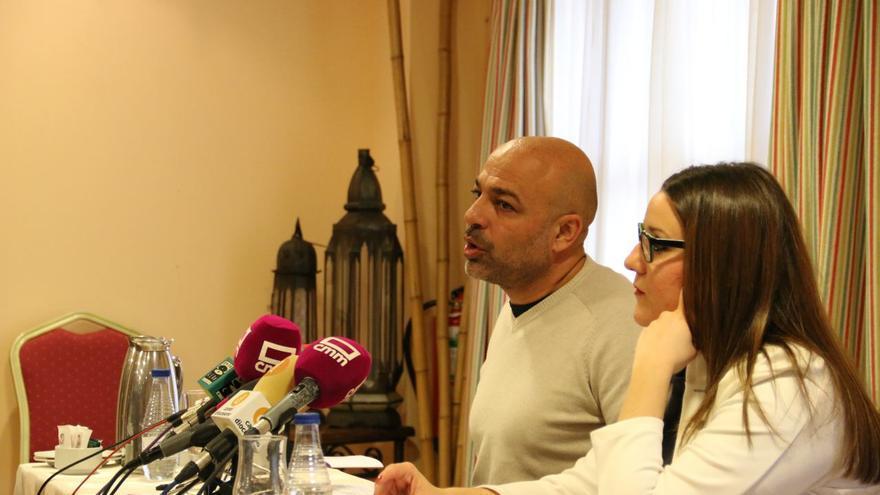 José García Molina y María Díaz en rueda de prensa
