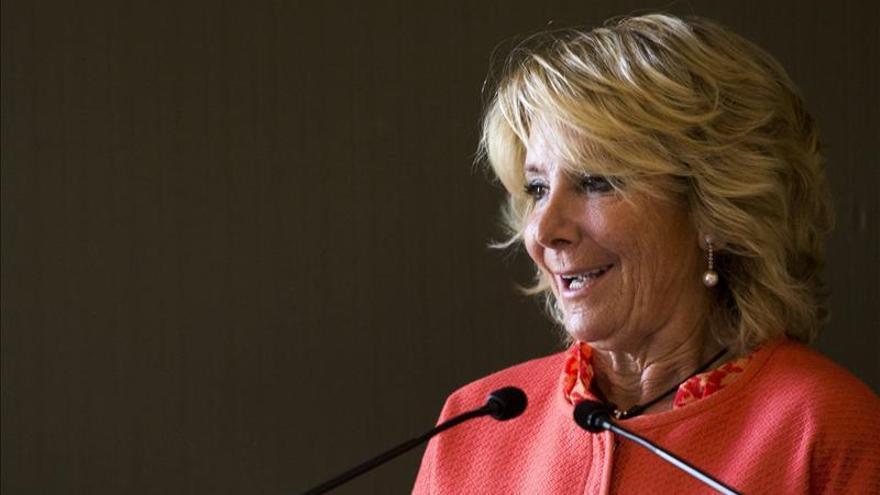 Esperanza Aguirre testifica hoy por Gürtel en su despacho del PP