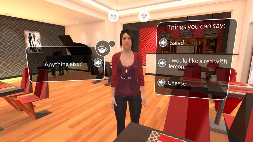 Situaciones de la vida real en un entorno inmersivo: la apuesta de Mondly ha triunfado en las tiendas de 'apps' (Imagen: Mondly VR)