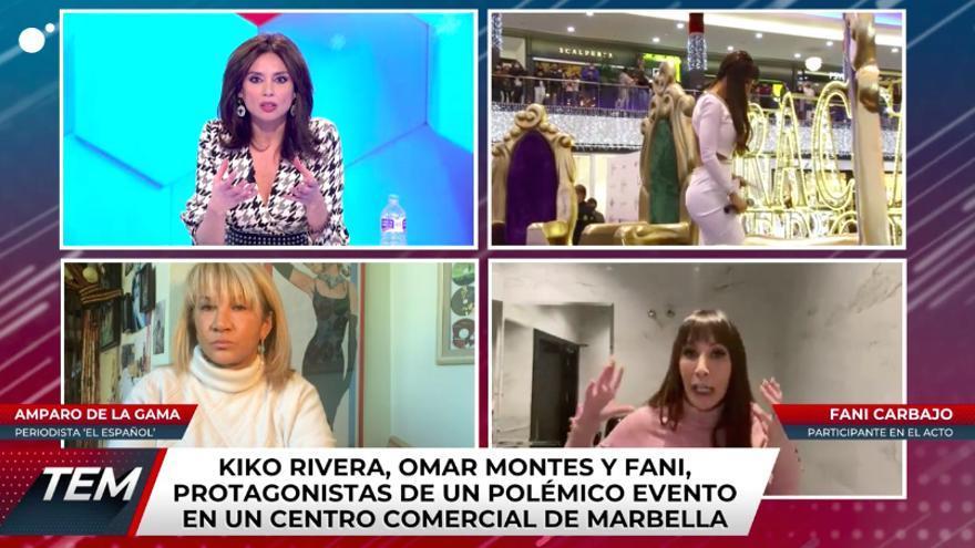 Fani, en 'Todo es mentira' hablando del acto con famosos desalojado de Marbella