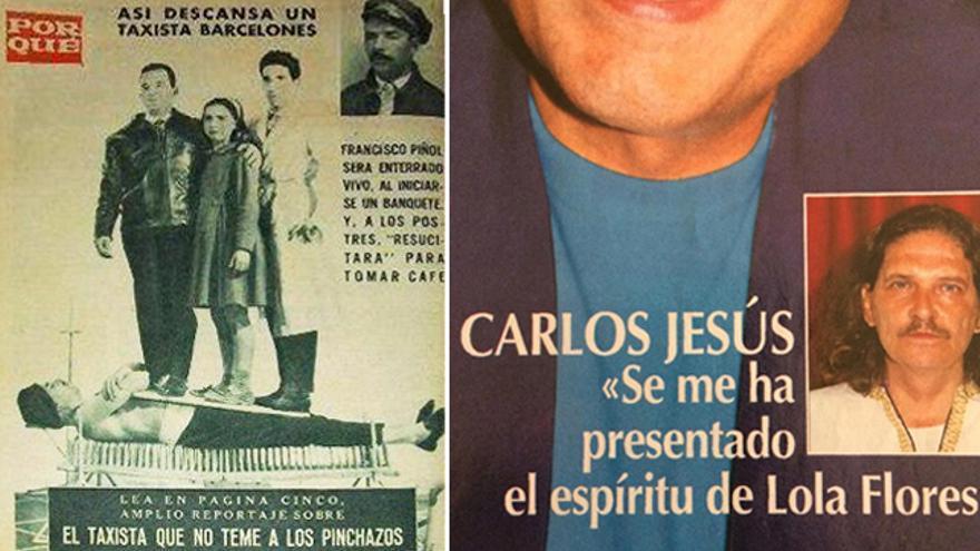Algunas de las surrealistas portadas de la prensa hortera española antes del 'clickbait'