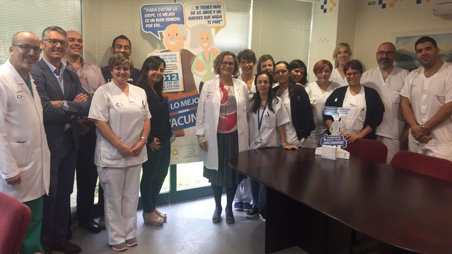 Mercedes Coello y su equipo sanitario.