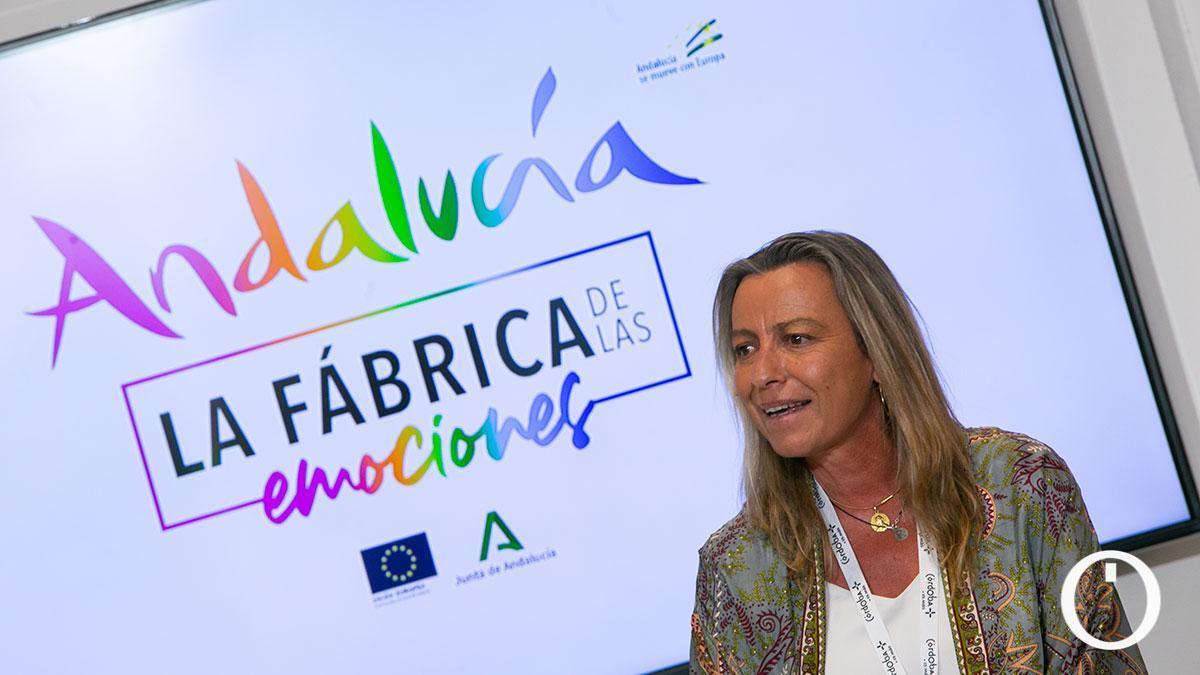 Isabel Albás en el stand de Andalucía en Fitur