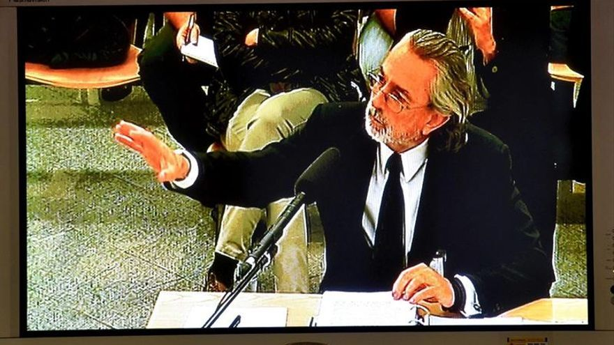 Francisco Correa, durante un momento de su declaración.