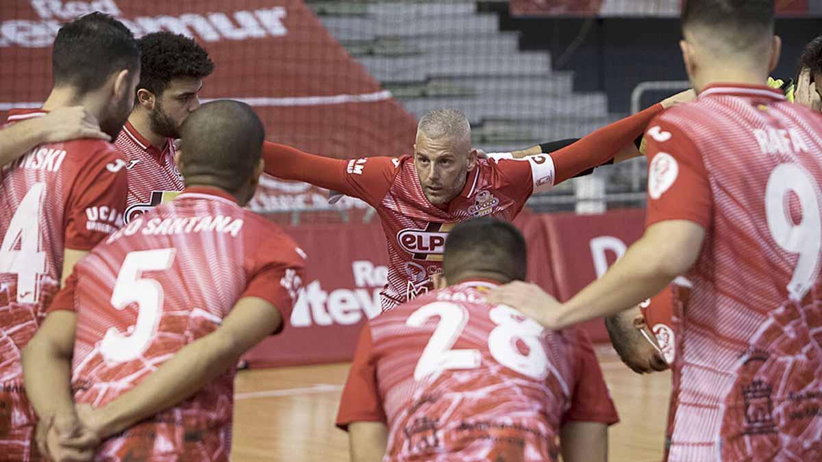 Miguelín, en un partido de ElPozo Murcia