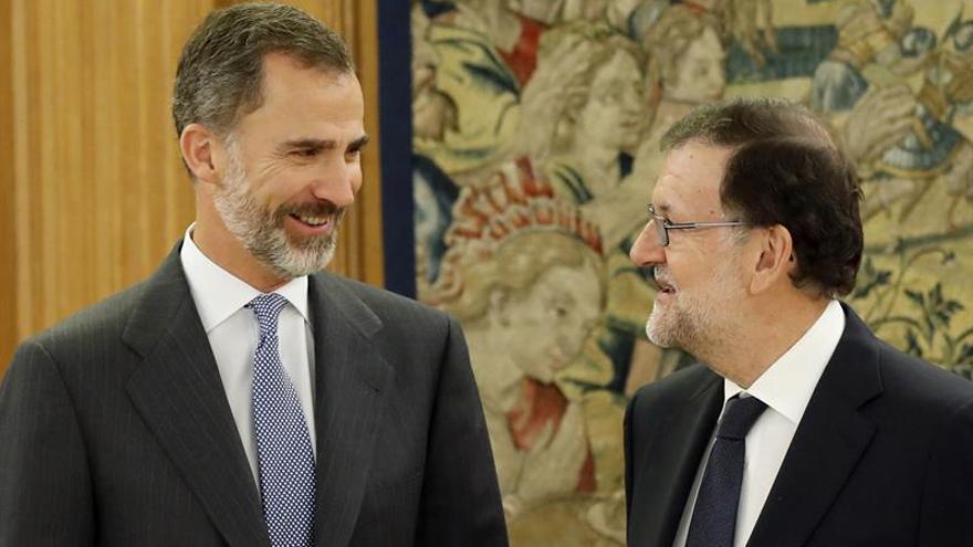 Felipe VI recibe a Rajoy y completa así su quinta ronda de consultas