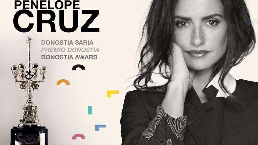 Penélope Cruz, imagen del festival Zinemaldia en su 67 Edición y Premio Donostia