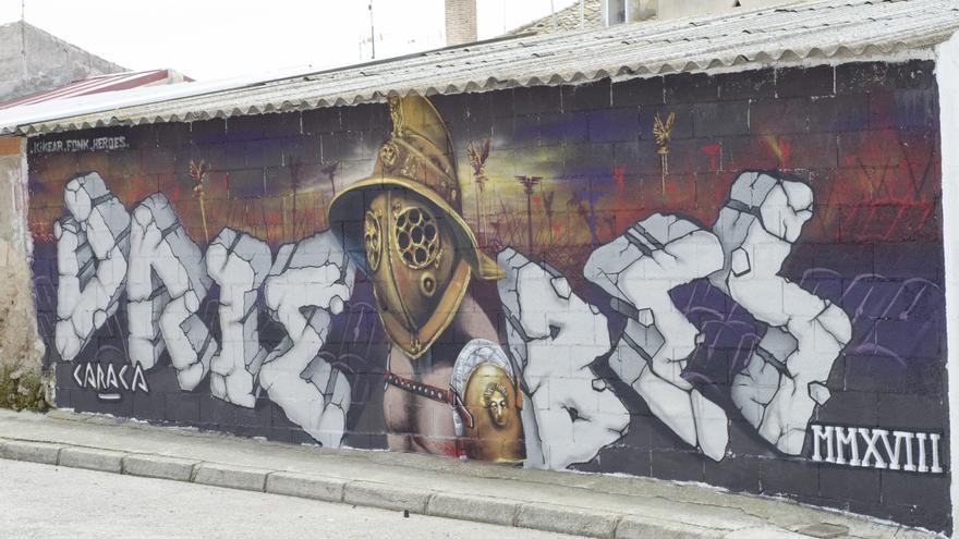 Primer premio del concurso Ruranos: 'El gladiador', del colectivo artístico Héroes Kikear Fonk