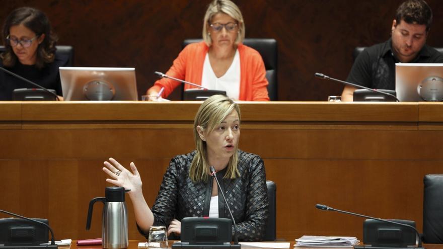 La consejera de Economía, Marta Gastón, durante una comparecencia parlamentaria.