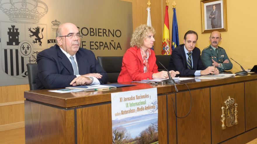 Eva Díaz Tezanos y Samuel Ruiz han coincidido en un acto sobre naturaleza y medio ambiente. | Raúl Lucio