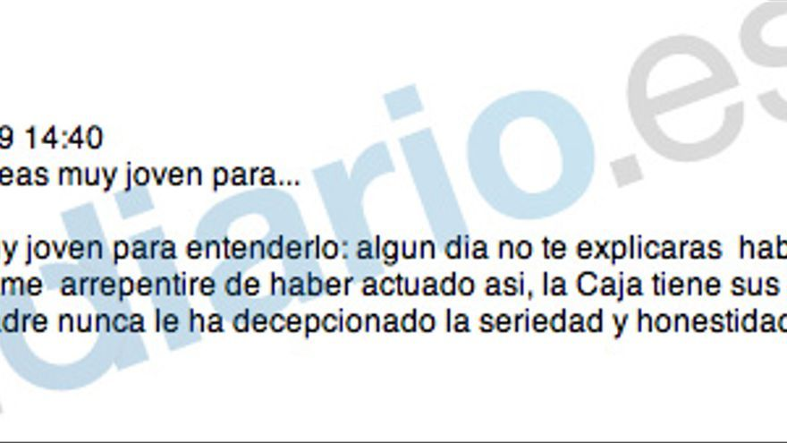 "Blesa al hijo de Aznar: ""La Caja no es mi cortijo"""