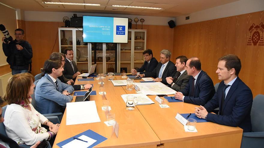 Reunión del Gobierno regional, la Universidad de Alcalá y el Ayuntamiento de Guadalajara