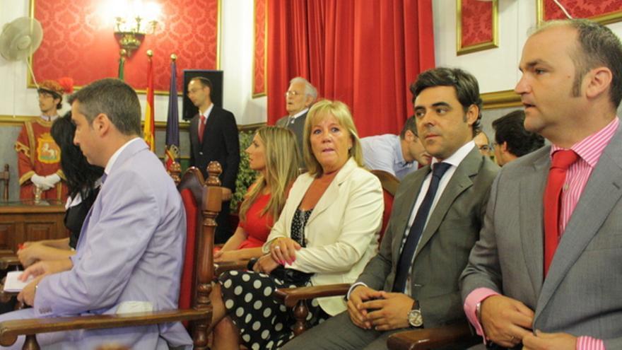 Francisco José Coronado Cabrera, segundo por la derecha. Foto: Ayuntamiento de Morón de la Frontera