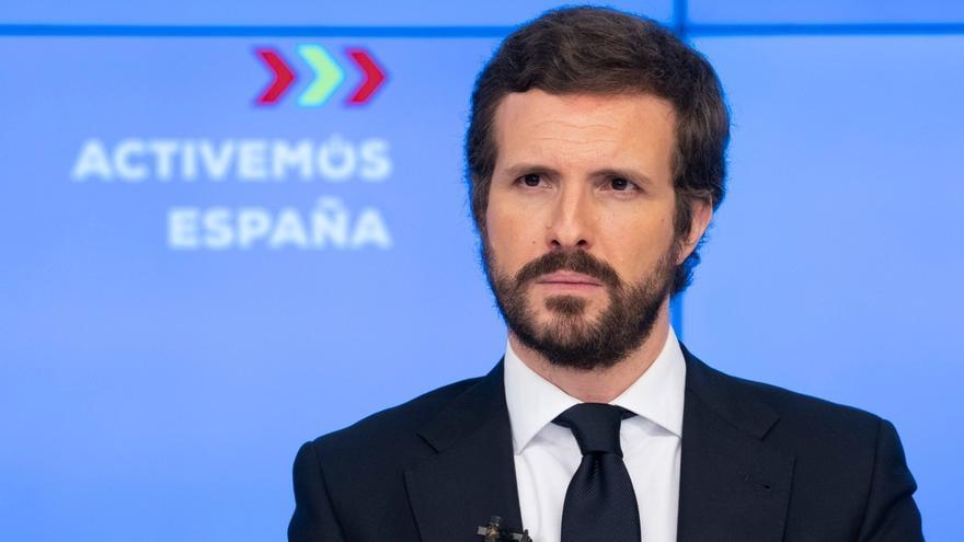 """Casado defiende pactos con Cs y avisa a Arrimadas que Sánchez quiere """"cuadrar"""" los PGE con subida fiscal a clase media"""