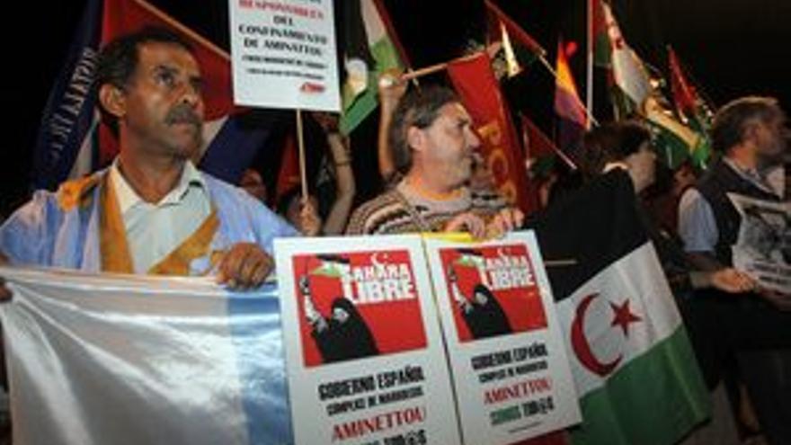 Manifestantes en la capital grancanaria. (ACFI PRESS)
