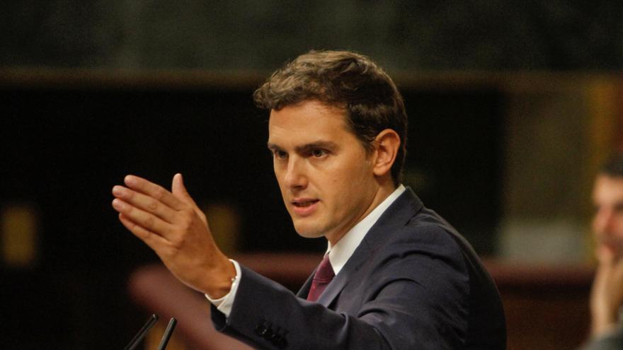 Albert Rivera, durante su discurso. Foto: Jon Barandica
