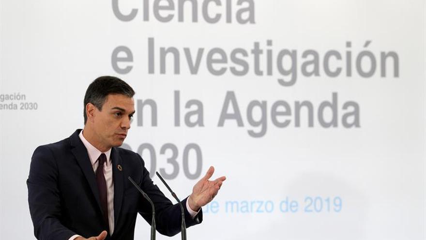 Sánchez aboga por un pacto de Estado por la ciencia que asegure la inversión