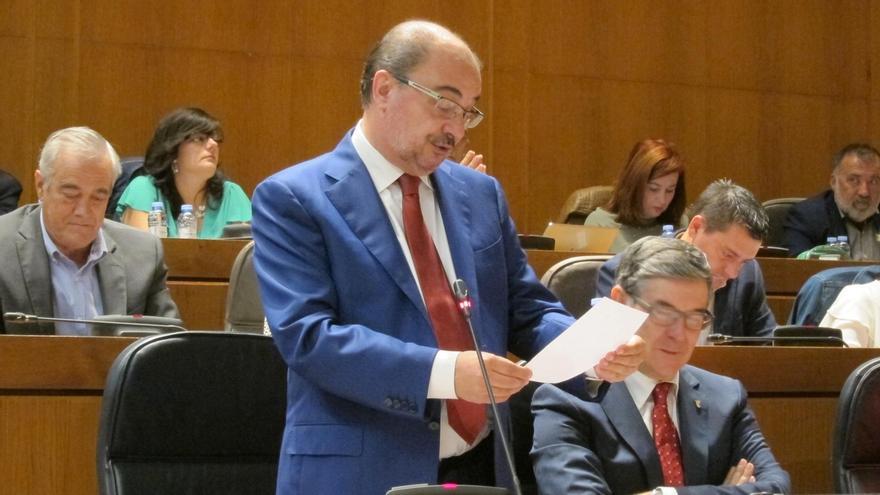 """El presidente aragonés emplaza a Podemos a salir del """"mar de dudas"""" y negociar los Presupuestos de 2018"""