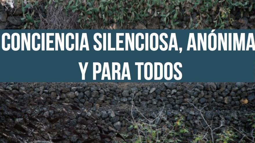 Las frases de Anoniman, con su cartel situado en el kilómetro 32 de la Autopista del Norte de Tenerife