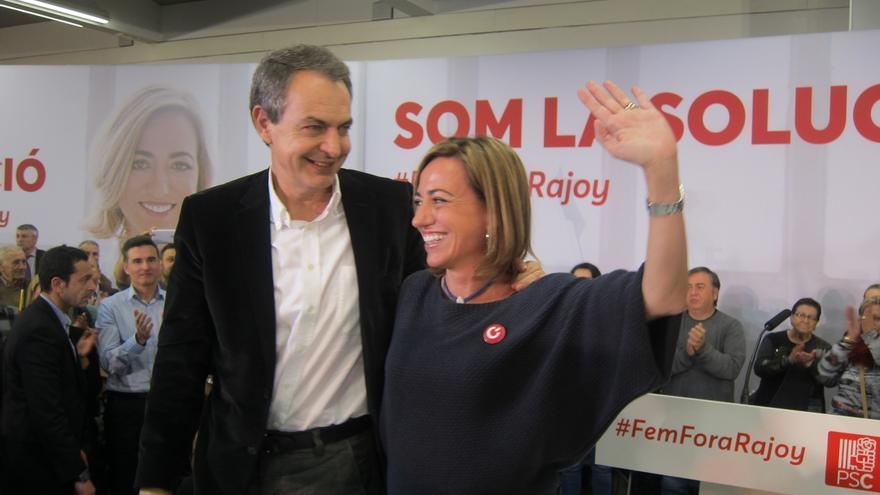 """Zapatero ve efímero el independentismo y augura pacto """"en tres o cuatro años"""" si gana el PSOE"""