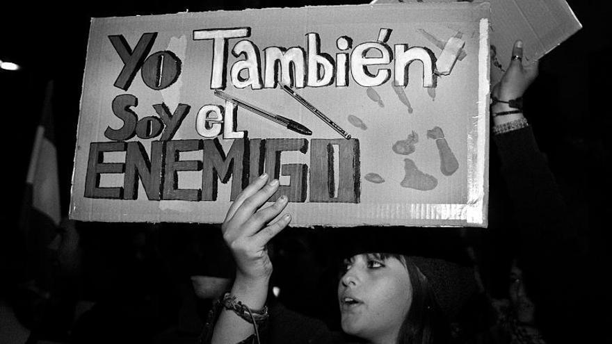 """Manifestación de apoyo a la """"primavera valenciana"""" el 21 de febrero en Sevilla (cc Ricardo / Wikipedia)"""