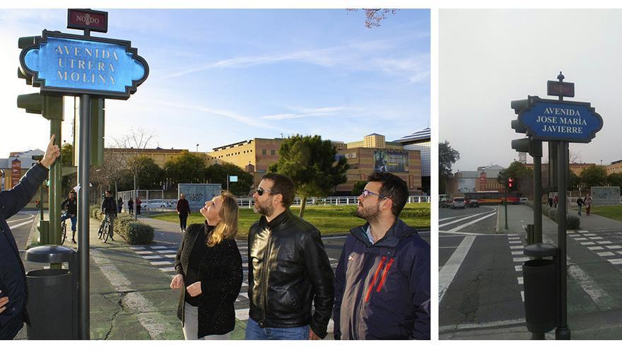 En antes y el después: de avenida Utrera Molina a José María Javierre.