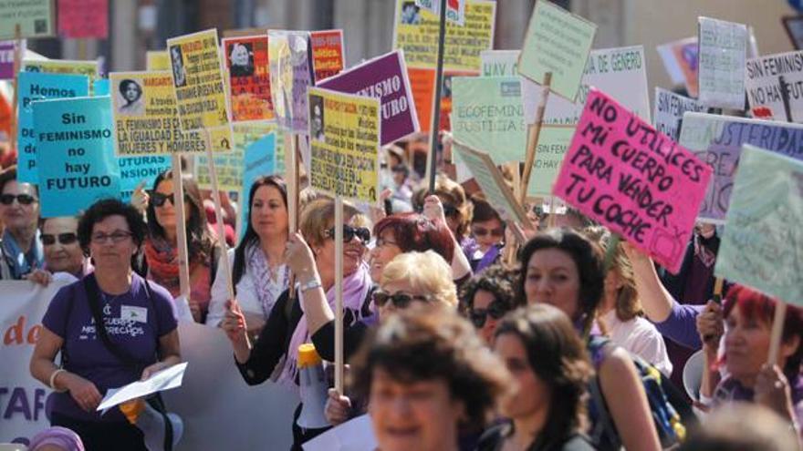 mujeres-10 - Manifestación por el 8 de marzo, en una imagen de archivo.