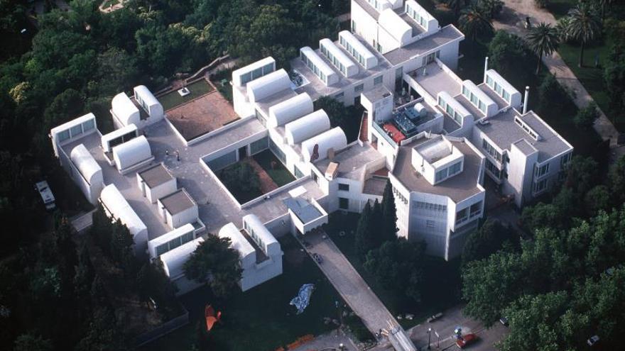 Vista aérea de la Fundación Joan Miró.