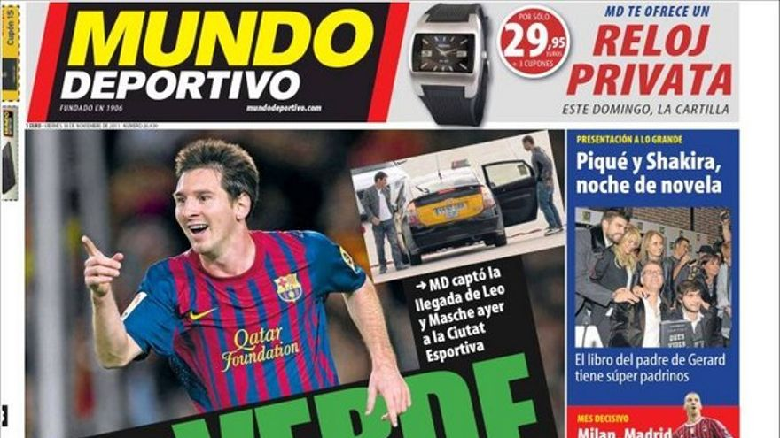 De las portadas del día (18/11/2011) #14
