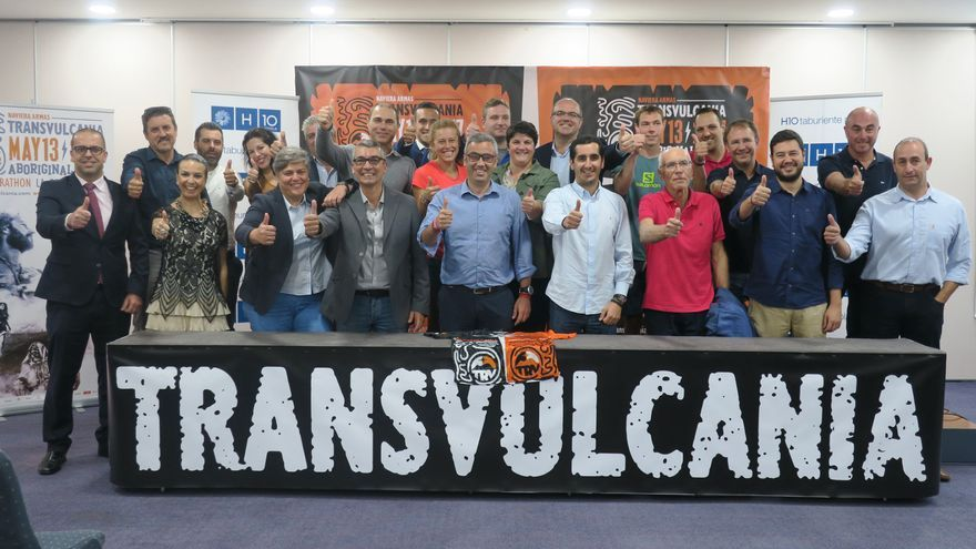 Acto de presentación de Transvulcania 2017 este martes en Los Cancajos.