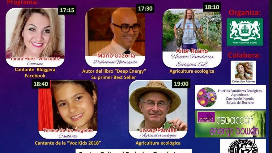 Cartel del evento 'La sabiduría de las plantas' con Josep Pámies incluido.