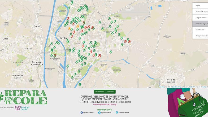 Captura de pantalla de la web reparaentucole.org.