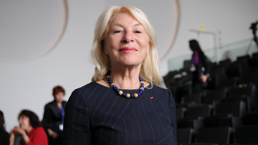 Nicole Ameline, durante la Conferencia Women4Mediterranean, organizada por Unión por el Mediterráneo.