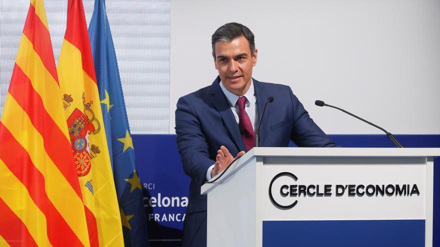 El presidente del Gobierno, Pedro Sánchez, en la reunión del Cercle de Economía.EFE/ Quique García