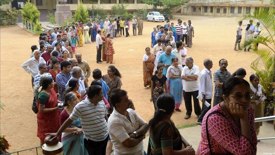 La India celebra su mayor jornada electoral