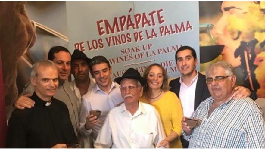 Un momento de la celebración del 'San Martín' en Breña Baja.