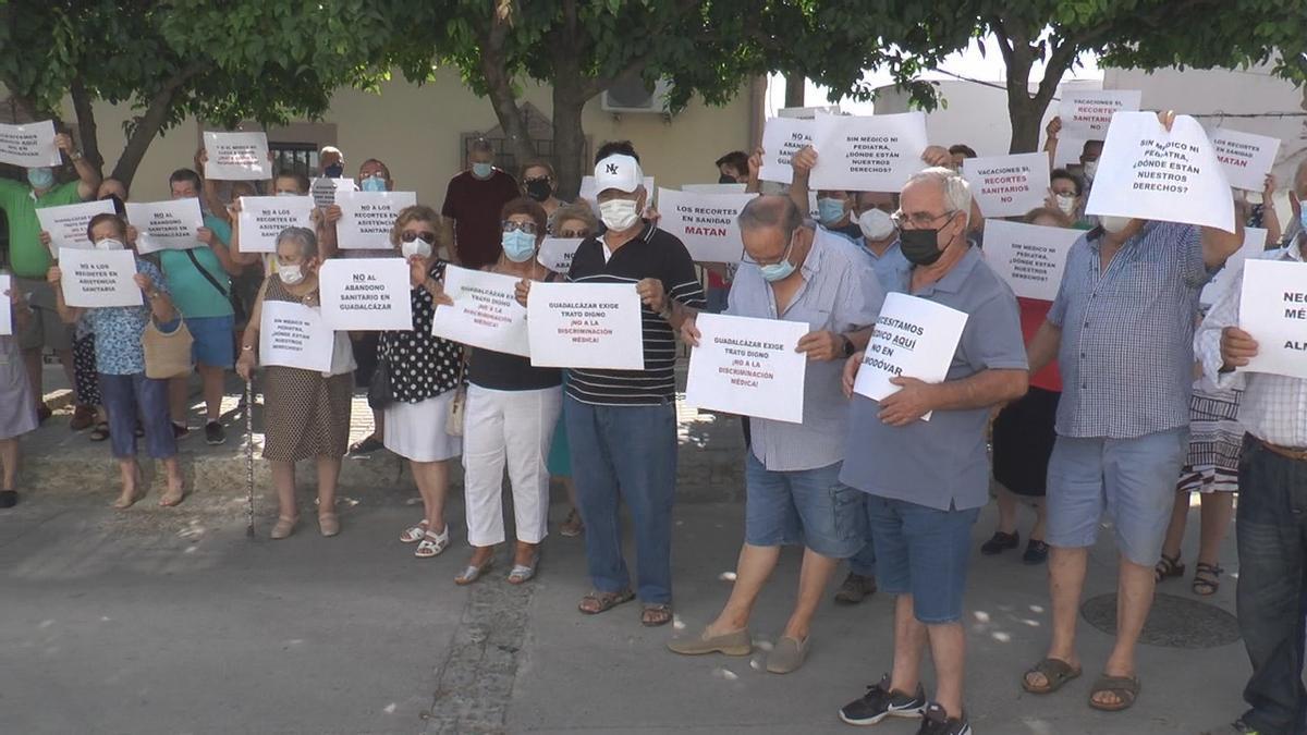 Protesta vecinal en Guadalcázar