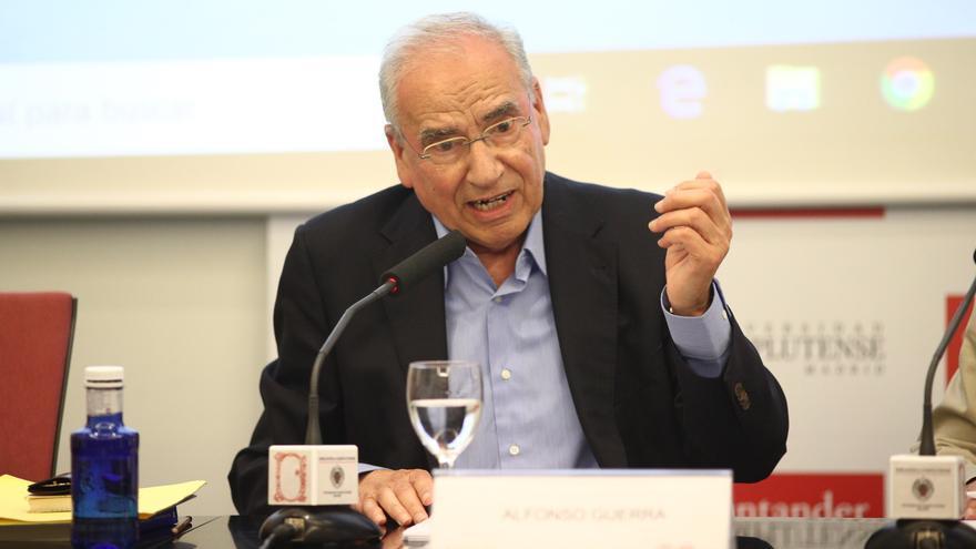 Alfonso Guerra, diputado constituyente y exvicepresidente del Gobierno.