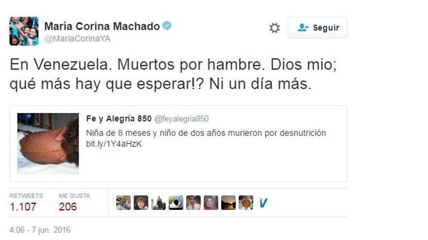 Tuit María Corina Machado
