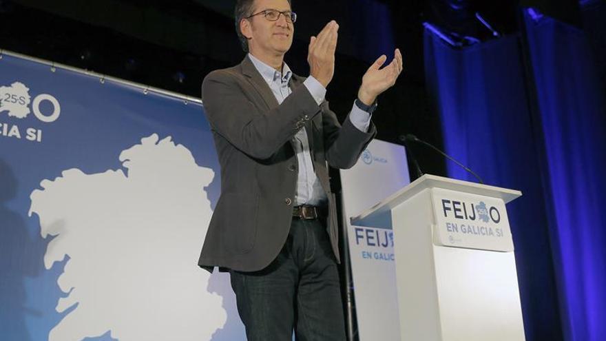 Feijóo cree que con el apoyo de Rajoy es posible la mayoría absoluta