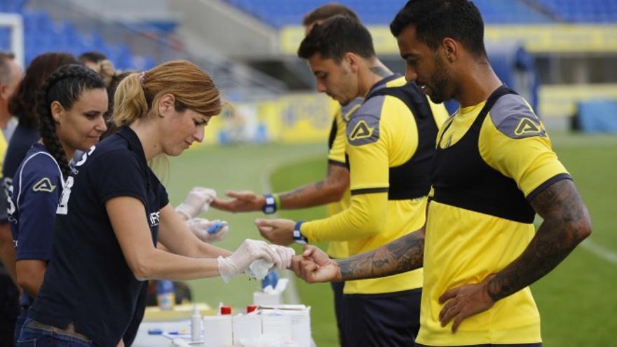 Test a los jugadores de Las Palmas